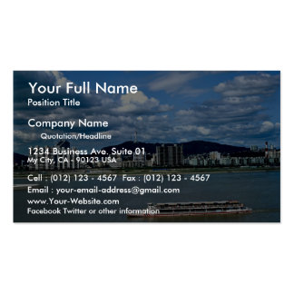 Han River, an excursion ship Double-Sided Standard Business Cards (Pack Of 100)