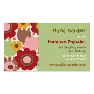 Hana Garden - Pink - Business Card