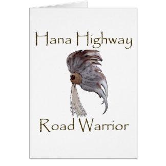 Hana Highway Road Warrior Vertical Card