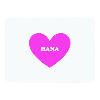 """Hana Invitación 5"""" X 7"""""""