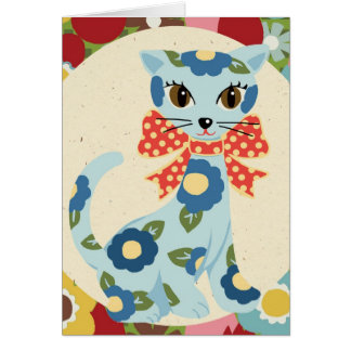"Hana Kat  ""Thinking of you!"" Greeting Card"