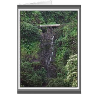 Hana Road Waterfall Greeting Card