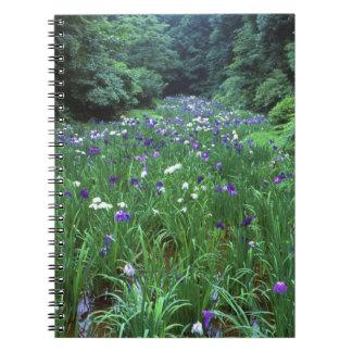 Hana Shobu (iris japonés) del agua, capilla de Mei Libro De Apuntes Con Espiral