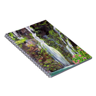 Hana Waterfalls in Maui Painting -  Notebook