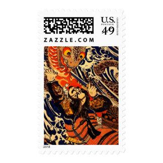 Hanagami Danjo no jo Arakage fighting aSalamander Postage Stamp