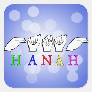 HANAH  NAME FINGERSPELLED ASL HAND SIGN STICKER