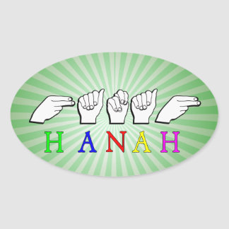 HANAH  NAME FINGERSPELLED ASL HAND SIGN STICKERS