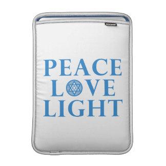Hanakkah - luz del amor de la paz fundas MacBook