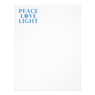 Hanakkah - Peace Love Light Letterhead