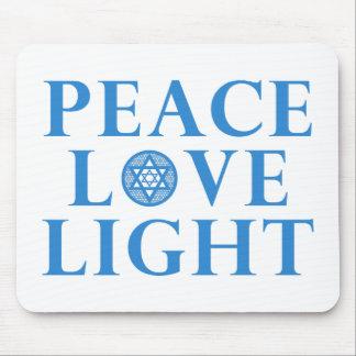 Hanakkah - Peace Love Light Mouse Pad