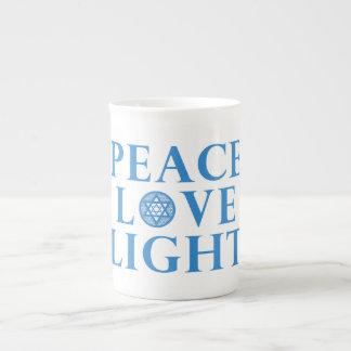 Hanakkah - Peace Love Light Tea Cup