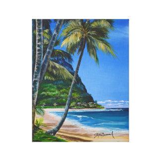 "Hanalei Bay, Kauai 11"" x 14"" Canvas Print"