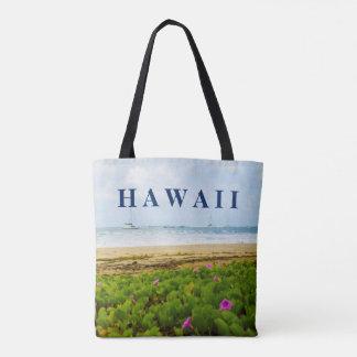 Hanalei Bay Kauai Hawaii Beach & Boats Tote Bag
