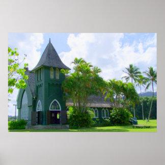 Hanalei Church Poster