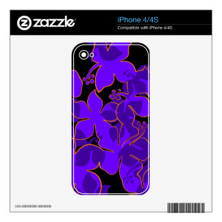 Hanalei Hawaiian Floral iPhone 4/4S Skin Skin For The iPhone 4S