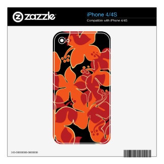 Hanalei Hawaiian Floral iPhone 4/4S Skin Skins For The iPhone 4