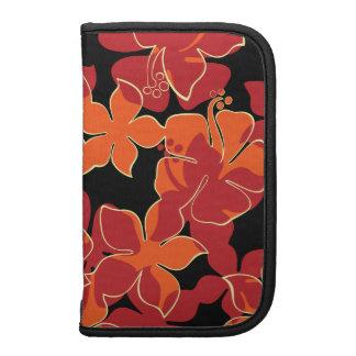 Hanalei Hawaiian Hibiscus Floral Rickshaw Folio Folio Planners