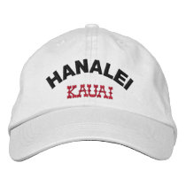 Hanalei Kauai Hawaii Embroidered Baseball Hat