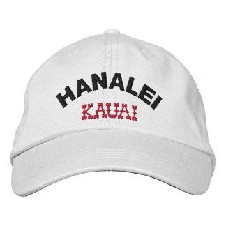 Hanalei Kauai Hawaii Embroidered Baseball Caps