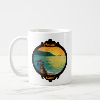 """Hanalei Pier"" w/Hawaii Islands Classic White Coffee Mug"