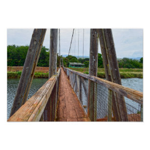 Swing Bridge Art Wall Decor Zazzle