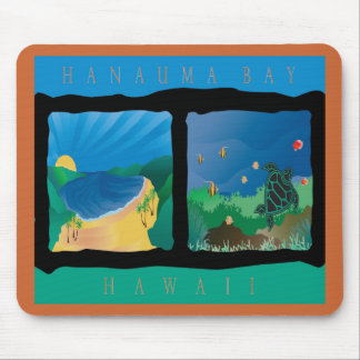 Hanauma Bay Above and Below Mouse Pad
