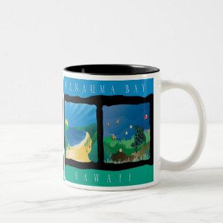 Hanauma Bay Above and Below Two-Tone Coffee Mug