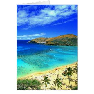 Hanauma Bay Beach Aloha! Card