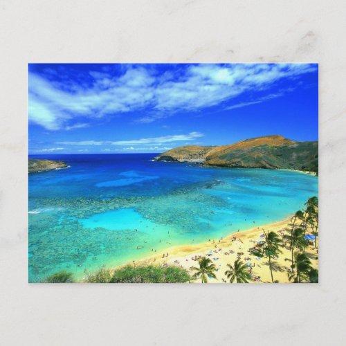 Hanauma Bay Beach Aloha Postcard