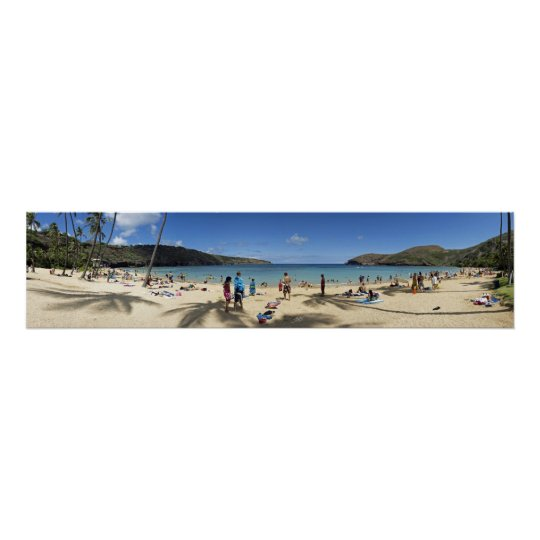 Hanauma Bay beach Panorama Poster
