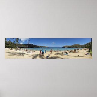 Hanauma Bay beach Panorama Posters