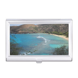 Photographer business card holders cases zazzle hanauma bay cliff business card holder reheart Images