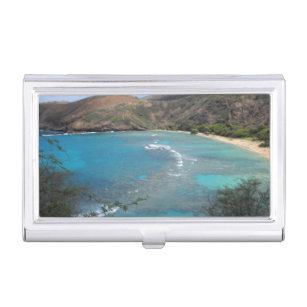 Ocean business card holders cases zazzle hanauma bay cliff business card holder reheart Gallery