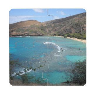 Hanauma Bay Cliff Puzzle Coaster