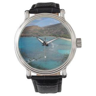 Hanauma Bay Cliff Wrist Watches