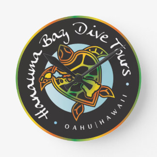 Hanauma Bay Dive Tours - Hawaii Round Wallclock