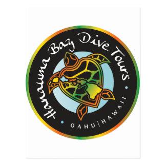 Hanauma Bay Dive Tours -Turtle Logo Post Cards