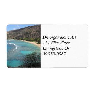 Hanauma Bay from the Cliffs Label