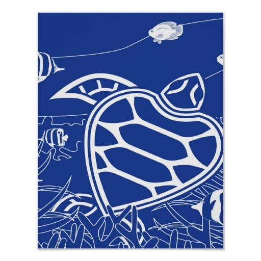 Hanauma Bay Green Sea Turtle Poster