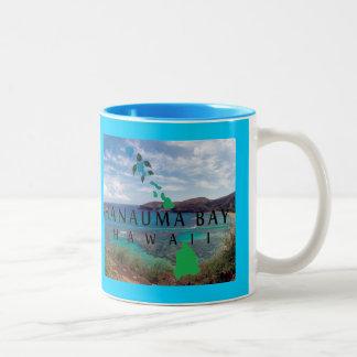 Hanauma Bay Green Sea Turtle Two-Tone Coffee Mug