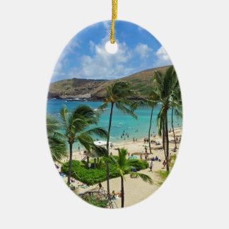 Hanauma Bay Hawaii - 2014 Vacation Christmas Ornaments