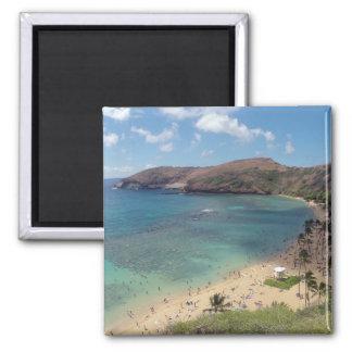 Hanauma Bay Hawaii 2 Inch Square Magnet