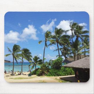 Hanauma Bay Hawaii Coconut Trees Mouse Pad