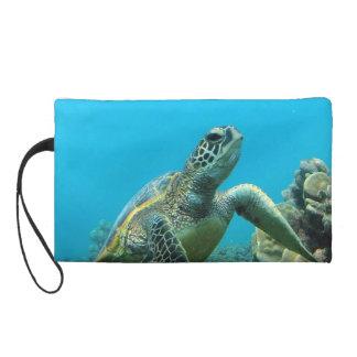 Hanauma Bay Hawaii - Green Sea Turtle Wristlet Purses