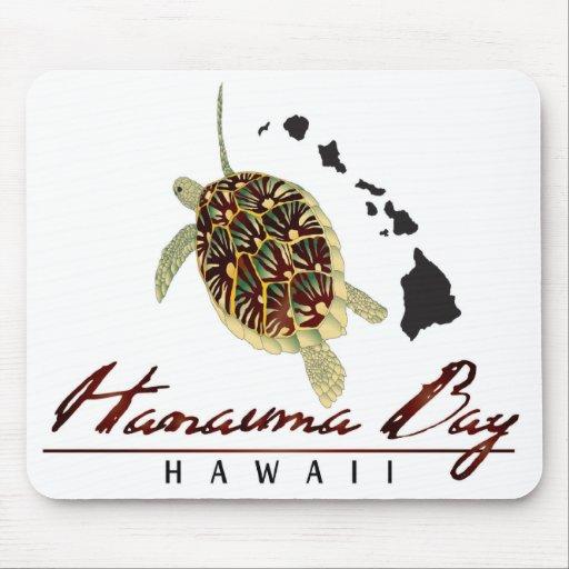 Hanauma Bay Hawaii Green Sea Turtle Mousepads