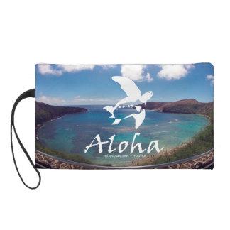 Hanauma Bay Hawaii - Green Sea Turtle Wristlet Purse