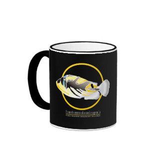 Hanauma Bay Hawaii Humuhumunukunukuapua'a Ringer Coffee Mug