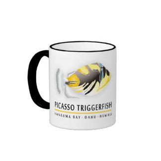 Hanauma Bay Hawaii - Humuhumunukunukuapua'a Ringer Coffee Mug