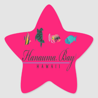 Hanauma Bay Hawaii Marine Life Star Sticker