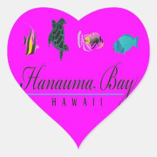 Hanauma Bay Hawaii Marine Life Heart Sticker